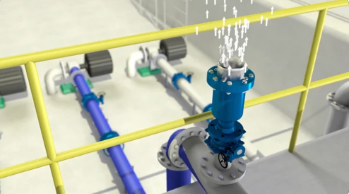 Non-Slam Dynamic Air Release Valve 3D Product Animation Movie